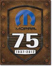 NEW Mopar 75th Anniv Antique Vintage Look Chrysler Dodge Engine Tin Metal Sign
