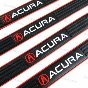 4PCS Black Rubber Car Door Scuff Sill Cover Panel Step Protector For Acura