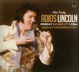 RARE CD IMPORT ELVIS PRESLEY- ADIOS LINCOLN - 20 JUIN 1977 -DIGIPACK- ST ARROW