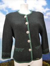 Stapf Austria schwarze Strickjacke mit Edelweißknöpfen Trachtenjacke Jacke Gr.38
