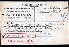 """PARIS (XIII°) USINE de CHAUSSURES de SPORT """"A. DRIGNON"""" en 1948"""