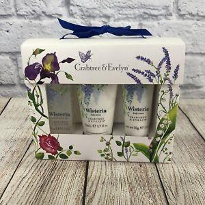 Crabtree & Evelyn Wisteria Travel Gift Set - Shower gel, lotion, body cream NIB