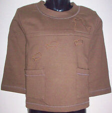 New 100% Cotton Boys Girls Jumper Sweater Age Large L 8-10 Years Brown
