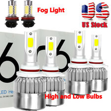 For Mitsubishi Lancer 08-17 6x Combo 9005 9006 LED Headlight H11 Fog Light Bulbs
