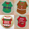 Dog Pet Cat Clothes Santa Sweater Shirt Puppy Christmas Pullover Hoodies Costume
