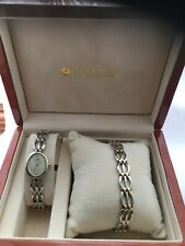 Citizen Women's Quartz Analogue Gold Plated Bracelet Watch & Bracelet Set & Box