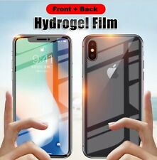 Front + Back Hydrogel Clear Screen Protector Cover For iPhone 7 8 XS MAX XR