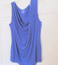 "LANE BRYANT SIZE:18/20 Blue Top/ Blouse Rayon/Spandex Pullover 26"" long"