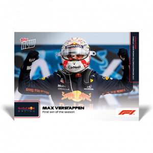 MAX VERSTAPPEN - RED BULL RACING F1 TOPPS NOW UK CARD #4 FIRST WIN OF THE SEASON