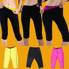 Women Sweat Body Shaper Shorts Ladies Yoga Pants Neoprene Waist Slimming Vest UK