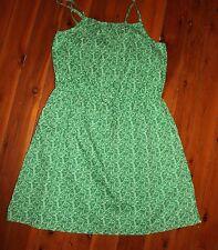 NWT GAP Pretty Green Floral Summer Dress Size 14-16