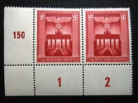 Germany Nazi 1943 Stamp MNH Pair Swastika Eagle Brandenburg Gate WWII Third Reic
