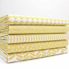 FQ Bundle - Pure Collection Pastel Yellow x 5 - Fat Quarter - Cotton Fabric Patc