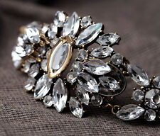 Bracelet Femme Floral Strass Moderne Retro Ancien Style Soirée Mariage CT3