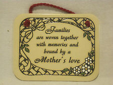 Trinity Pottery USA handcrafted genuine Families Mother's Love plaque decor