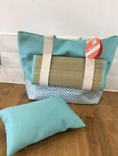 Mountain Warehouse Teal Beach Bag mat and Pillow NEW Picnic Summer RRP£25.99