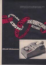 Pubblicità anni 50 OLIVETTI DIVISUMMA advertising macchina scrivere design