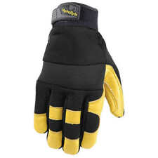 Wells Lamont Men's HydraHyde Leather Work Gloves, ONE PAIR SIZE M, L NEW