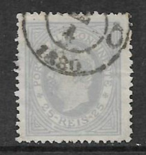 Single Used Stamp Portugal 1879 - Definitive - King Luis 1 New Drawing 25 Reis