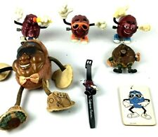 California Raisins Vintage Lot Toys and watch + extra
