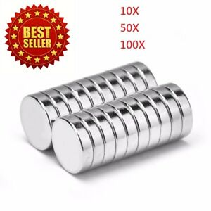 lot 10 50 100 12mm X 3mm Neodymium Disc Strong Earth N42 Small Fridge Magnets