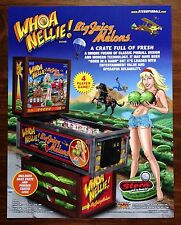 Whoa Nelly! Big Juicy Melons Pinball Machine Flyer by STERN