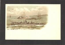 UNDIVIDED-BACK POSTCARD:  BRITISH ROYAL NAVY Pre-WW-1 TORPEDO BOAT - Unused