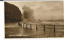 +POSTCARD ROUGH SEA ROCK A NORE HASTINGS RP 1935 - THE ROMNEY SERIES