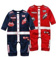 Speed Racing USA Premium Formula 1 Baby Birthday Boys Cute Costume Suit Romper