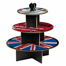 3 Tier Cardboard Cool Britannia Party Cake Stand