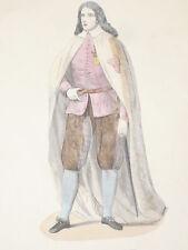 Chevalier Ordre d Aviz COSTUME GRAVURE COULEURS XIXe siecle