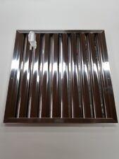 Flammschutzfilter 400x400x20mm Edelstahl Bauart A Wirbelstrom Filter NEU CNS