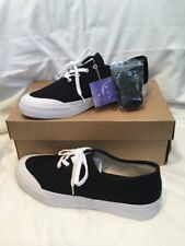 Genuine Mens Huf Cromer Black Canvas & White Suede Skate Shoes UK Size 8 BNIB