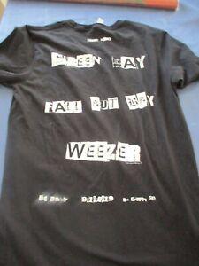 GREEN DAY WEEZER FALL OUT BOY 1 Nite LA WHISKEY Hella Mega S Concert T-Shirt