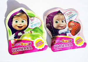 10psc Sparkling Candy + sticker Masha and the Bear treats Birthday Party Favor