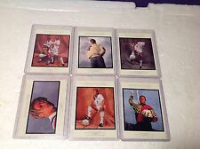 Set of (6) 1994 Upper Deck Soccer World Cup USA Walter Iooss Portrait Cards