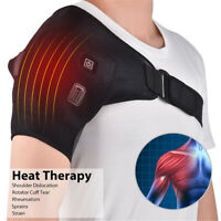 Adjustable Heated Shoulder Wrap Support Brace Therapy Pain Relief Belt