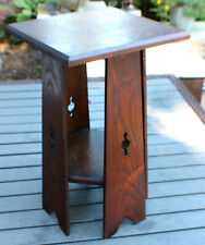 Antique Mission Oak Side Table Stand The Lakeside Crafts Shop Stickley Roycroft