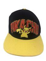 Pokemon Pikachu Adult Snapback Hat Cap Embroidered 2014 Baseball Hat