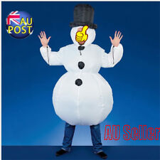 New Inflatable Santa Costume Christmas Gift Mens Xmas Fancy White Dress Suit MN
