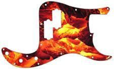 P Bass Precision Pickguard Custom Fender 13 Hole Guitar Pick Guard Fire Embers