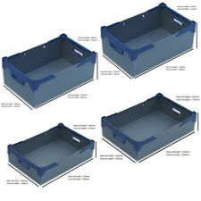 Plastic Storage Stackable Boxes Containers - Silver - Packs of 1, 3 or 5