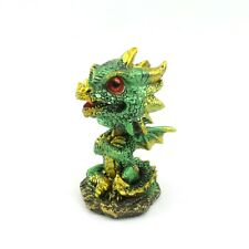 Green Bobblehead Dragon Figurine Mythical Fantasy Statue