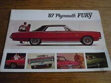 PLYMOUTH FURY CAR BROCHURE 1967
