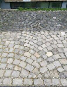Handgeschlagen Antik Basalt Pflaster-Steine Kopfsteinpflaster Echt alt