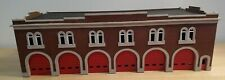 1/87 HO Scale Six Bay Fire Station with opening doors.  Built and ready