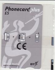BT Phonecard Plus PPL10B, £5 BT Logo, sealed Mint phonecard, scarcer Batch