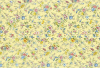 Lecien memoire a paris Quilting Cotton yellow 82081550 fabric