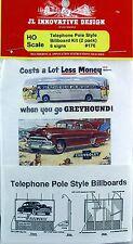 JL Innovative HO/HOn3 Billboards Telephone Pole Style 2/pkg. (176)