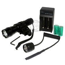 UltraFire 501B  Xenon 7.4V Tactical Flashlight Torch + CR123A Battery Mount Set